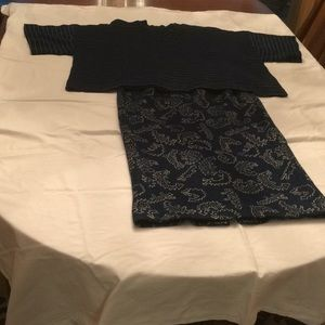 Nicole Miller skirt and matching top size 6